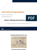 Defining International Organizations