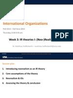 Neorealism and International Organizations