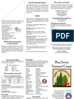 2014 Boy Scout Summer Camp at Camp Tuckahoe Brochure