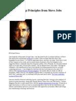 14 Leadership Principles From Steve Jobs