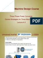 Lecture3 - Three Phase Power Converter Control Strategies for Three Machine Types