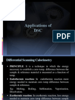 Applications of DSC