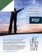 40 Days for Life-Dallas 2009 Bilingual