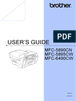 Brother 6490CW User's Guide