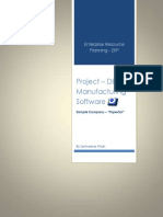 ERP Project Report - Sample