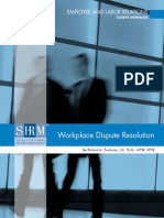 Workplace Dispute Resolution