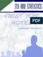 Probability and Statistics Notes - Akshansh