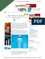 Readers Digest Bottled Water vs. Tap