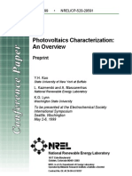 Photovoltaic Characterization
