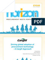 Driving Global Adoption of Procurement Technology, A Cargill Approach
