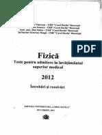 Teste-Fizica Admitere 2012