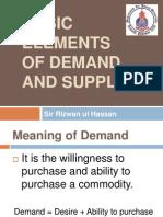 Basic Elements of Demand & Supply