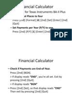 Using Financial Calculator