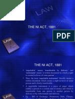The NI Act, 1881