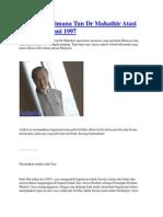 Kisah Bagaimana Tun Dr Mahathir Atasi Krisis Ekonomi 1997