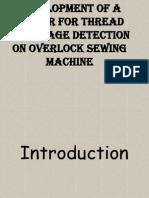 Sensor on Overlock
