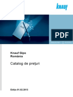 Catalog de Preturi Knauf 01.02.2013