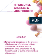 5. Interpersonal Awareness and Feedback Processes