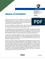 NAP 2013 Proton Media Statement