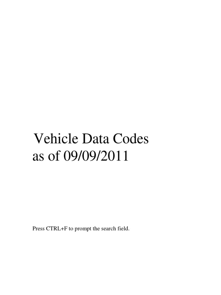 Ncic Vehicle Codes 450 Dozer Fuel Injector Diagram On Cav Pump Parts