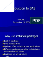 Lecture 10-Intro to SAS