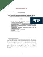 Evoluzione del debito degli enti locali, Italia