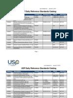 USP 2014 Reference Standards Catalog