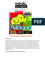 Hadoop Training Institutes in Pune , CloudEra Certification Courses in Pune