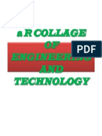 A r Collage of Engineering and Technology