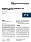 Biological Functions and Metabolic Fate