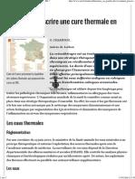 Comment Prescrire Une Cure Thermale en ORL-JIM.fr