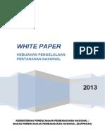 White Paper Kebijakan Pengelolaan Pertanahan Nasional