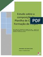 Oficina 25 -APOSTILA - Estudo Sobre a Composicao Da Planilh de Custo