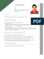 Curriculum Rafael Abrantes Gonçalves --
