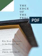 The Edge of the Precipice Why Read Literature in a Digital Age