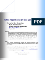 White Paper Metrics for Idea Generation Glassman 2009