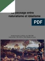 Le paysage entre naturalisme et idéalisme