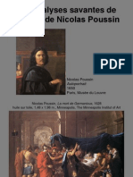 Les analyses savantes de l'œuvre de Nicolas Poussin