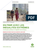Rapport Oxfam Ingalites Extremes