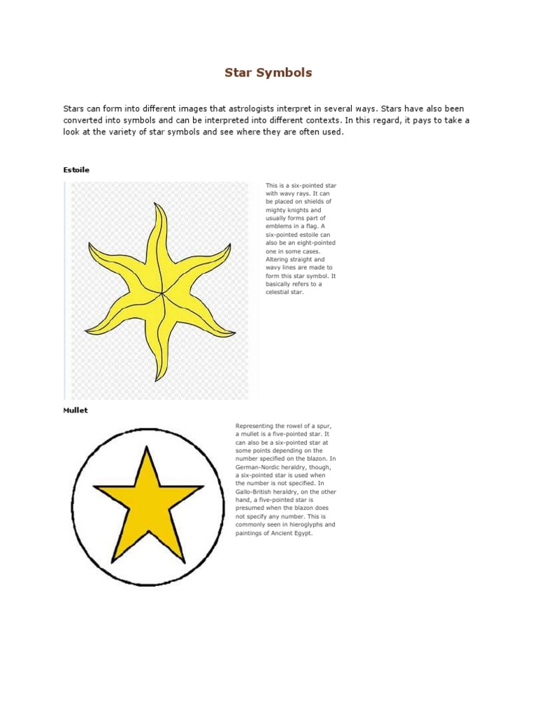 Star Symbolscx Heraldry Symbols