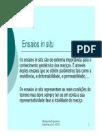 Microsoft PowerPoint - Ensaios in Situ