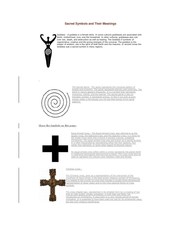 Sacred Symbols And Their Meaningscx Goddess Crucifixion
