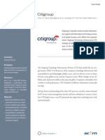 Citigroup Case Study