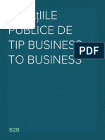 Relaţiile publice de tip business to business. B2B.