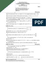Model Matematica Filiera teoretică, profilul real, specializarea mate-info și  Filiera vocaţională, profilul militar, specializarea mate-info