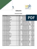 Vestibular 2014 - Resultado por ordem alfabética