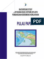 Background Study Buku III RPJMN 2015-2019 Pembangunan Berdimensi Kewilayahan Pulau Papua