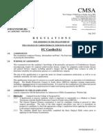 FC Cardio(SA) Regulations 20-1-2014