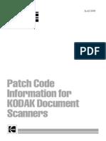 Patchcodes for Kodak Scanners