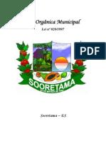 Lei Orgânica da Prefeitura de Sooretama